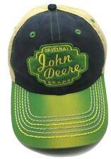 JOHN DEERE licensed black / green / beige adjustable snapback cap / hat