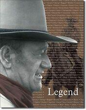 "John Wayne The Duke The Legend Western Saddle Rifle Gun 12.5"" X 16"" Metal Sign"