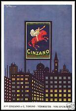 PUBBLICITA'1921 CINZANO VINO VERMOUTH SPUMANTE CITTA' GOLIA CAPIELLO ZEBRA ROSSA