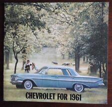 CHEVROLET 1961 Range large format prestige orig USA Mkt brochure - Corvette etc