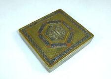 Extraordinary Cigarette Case Syria Um 1900 Bronze