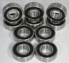6200-2RS C3 Premium Sealed Ball Bearing 10x30x9mm (Qty. 10)