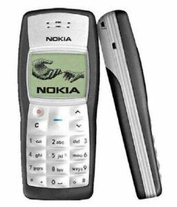 Refurbished Pristine Condition Nokia 1100 Jet Black  Unlocked Mobile Phone UK