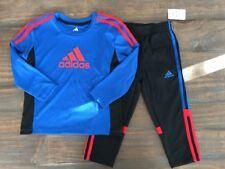 NWT Adidas Boys 2 Piece Set Top Pants Skinny Size 3T