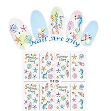 SUMMER-Nail Art Water Transfer Stickers-FANTASIA MARINA-CONCHIGLIA-STELLA!