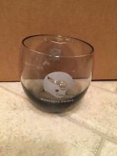"Vintage Minnesota Vikings NFL Drinking Glass 4"" Smoked Liquor Glass Whiskey"
