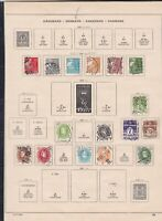 denmark stamps page ref 18172