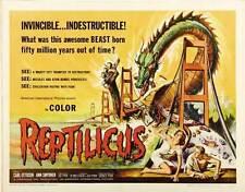 REPTILICUS Movie POSTER 22x28 Half Sheet Carl Ottosen Ann Smyrner Mimi Heinrich