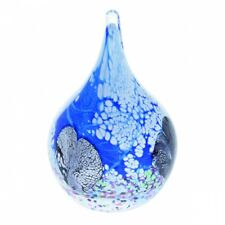 Caithness Glass Art Cadenza Blue Teardrop Paperweight New & Boxed