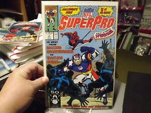 NFL SuperPro (1991) # 1. Spider-man Cover NEVER READ GREAT SHAPE NM
