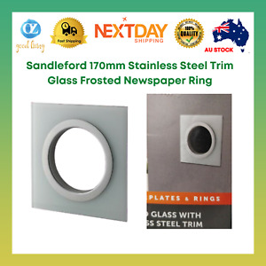 Sandleford 170mm Stainless Steel Trim Glass Frosted Newspaper Ring