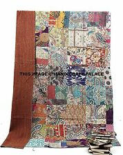 Patchwork Kantha Quilt Indian Handmade Cotton Comforter Blanket Bedding Throw