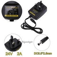 AC 100V-240V to DC 24V 2A Converter Power Supply Adapter 5.5*2.5mm for LED Strip