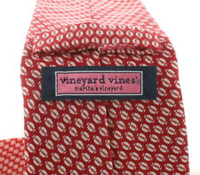 VINEYARD VINES BOYS TIE FOOTBALL MICRO FOOTBALL RED NECK TIE NEW NWT