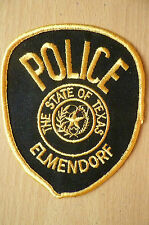 Patches- ELMENDORF THE STATE OF TEXAS POLICE PATCH (NEW*, apx.10.5x9 cm)