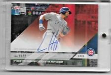2018 TOPPS NOW IAN HAPP ON-CARD AUTO #06/10 1ST HR OF 2018 COMES ON 1ST PITCH