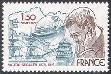 FRANCIA 1979 Segalen/NAVI/Scrittore/Explorer/Nautica/Libri/edifici 1 V (n23278)