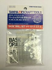 Tamiya 74049 Basic Drill Set - 1mm, 1.5mm, 2mm, 2.5mm, 3mm Craft Tool