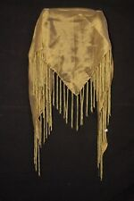 Ladies Unique Gold Tassel Stand Out Statement Scarf (s233)