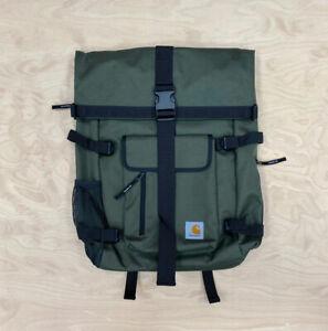 Carhartt Wip Philis Backpack Duck Canvas 11 oz cypress  Roll Top Bag Ship World