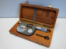 "USED ETALON DIAL INDICATING MICROMETER 0-1"" WITH CASE"
