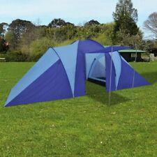 vidaXL Kampeertent 6-Persoons Blauw Kampeer Camping Tent Tenten Cabinetent