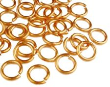 JUMP RING COPPER 16GA WIRE 7MM O/D 320 PCS.2 OZ GENUINE SOLID COPPER( SAW- CUT