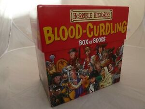 Horrible Histories 18 Book Box Set Blood Curling - In very good condition