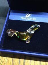 Genuine Daniel Swarovski Crystal Paradise Silver Seal Brooch - New - Boxed