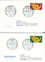 1973 Germany. Pair of European Dressage, Horse, Aachen 1 postmark covers. Europa