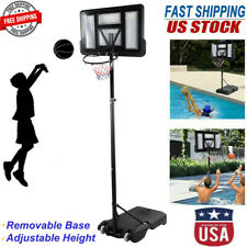 6-10Ft Height Adjustable Basketball Hoop Goal Stand Backboard System Adult Sport