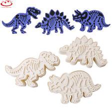 3pcs Dinosaur Shape Cookies Cutter Biscuit Pastry Fondant Cake Decorating Mould