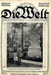 """Kaiser Wilhelm II. bei der Enthüllung des """"Jäger aus Kurpfalz""""-Denkmals von 1913"""