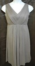 J Crew Women's Louisa 10 Dress Silk Chiffon Graphite V-Neck Bridesmaid Dance