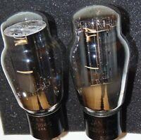 2 NOS JAN CKR CRC VT-244 5U4G TUBES KENRAD RCA HANGING FILAMENTS DOUBLE SUPPORTS