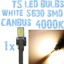 N° 1 Bombilla LED T5 Blanco 4000K SMD 5630 X Faros Angel Eyes Depo FK 12v 1A5IT