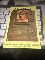 Al Kaline Detroit Tigers Signed Hall of Fame Postcard COA