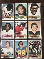 1975 Topps Football Set Break Lot Of 9 Cards Several HOFers NrMt