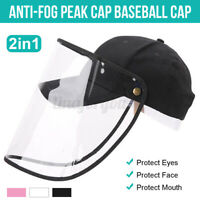 Protective Cap Hat Eye Protection Anti-Fog Saliva Peaked Caps Cover Adjustable