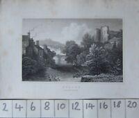 C1830 Antico Stampa ~ Brecon Brecknockshire