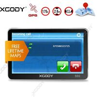 XGODY 5'' GPS SAT NAVI Navigation Navigator With AU EU World Maps Bluetooth 8GB