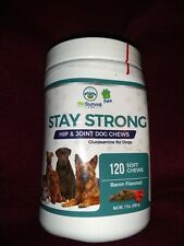 New listing BioSummit Labs Stay Strong Hip Joint Glucosamine Dogs 120 Chews Bb 6/20, 17 oz