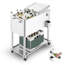 Premium Blumfeldt Servierwagen Edelstahl Gartenmöbel Getränkewagen Trolley Tisch
