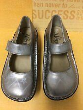 "Alegria Silver Leather Shoe size 13US/31EU, 7.5"", Little Kids"