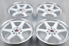 17 white wheels Corolla Miata Civic Sonata Elantra Ion Accord 4x100 4x114.3 Rims