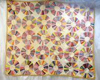 """Vintage Hand Stitched Pattern Quilt 75""""x64"""""""