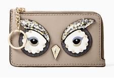 Kate Spade star bright owl poppy Card Case Coin Purse Key Fob Pouch Wallet ~NWT~