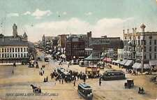 Lima Ohio Public Square Main Street Antique Postcard K45535