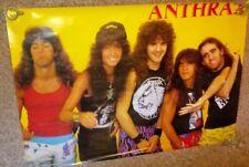 "Vintage 1987 Anthrax Poster 35""× 23-1/2"""