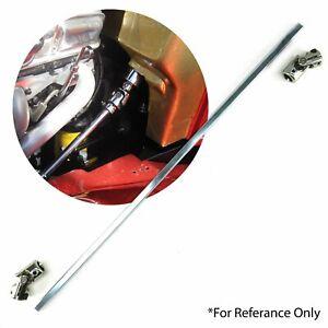"""36"""" Long 3/4"""" DD Steel Steering Shaft + Power 3/4"""" DD x 3/4"""" DD U-Joint Kit"""